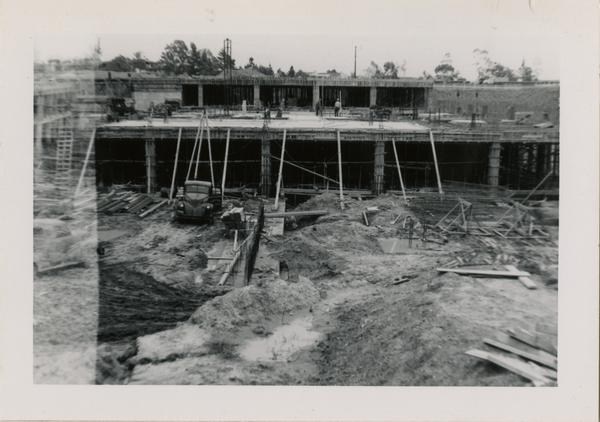 Looking east at UCLA Medical Center during construction, April 12, 1952