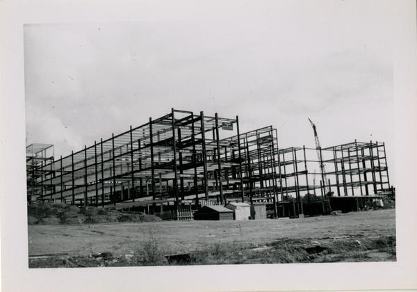 Looking southeast from northwest corner at UCLA Medical Center, November 30, 1952