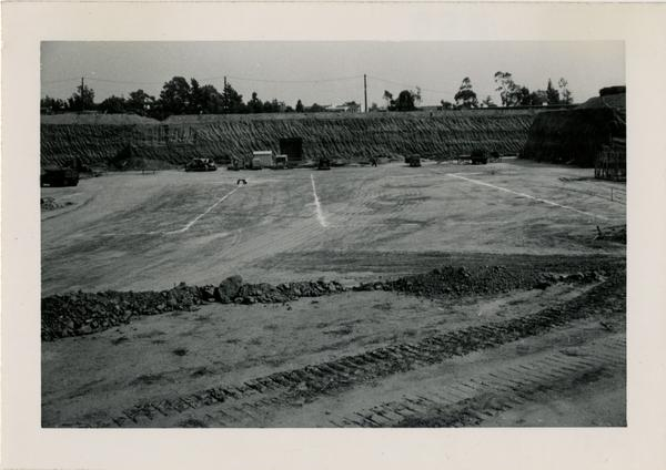 Looking east at UCLA Medical Center during construction, November 7, 1951