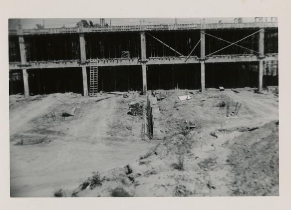 Looking east at UCLA Medical Center during construction, May 10, 1952