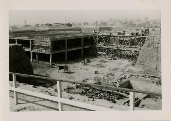 Looking southwest at UCLA Medical Center during construction, March 29, 1952