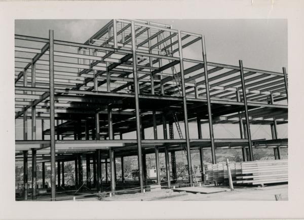 Looking northwest at UCLA Medical Center during construction, June 8, 1952