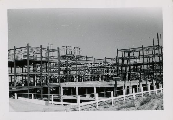 Looking northeast at UCLA Medical Center during construction, November 8, 1952