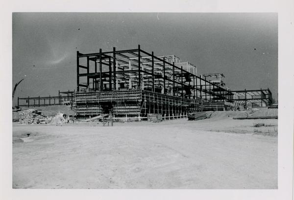 UCLA Medical Center during construction, October 12, 1952