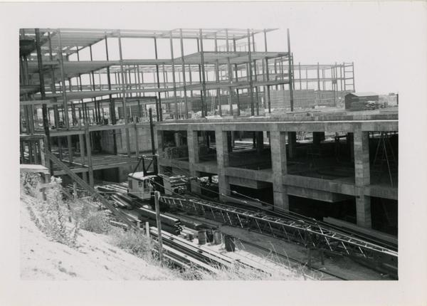 UCLA Medical Center during construction, October 5, 1952