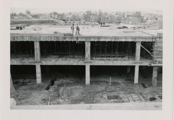 Looking west at UCLA Medical Center during construction, April 12, 1952