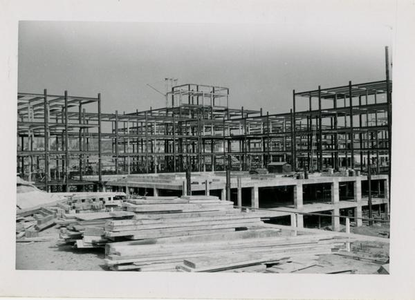UCLA Medical Center during construction, November 1, 1952