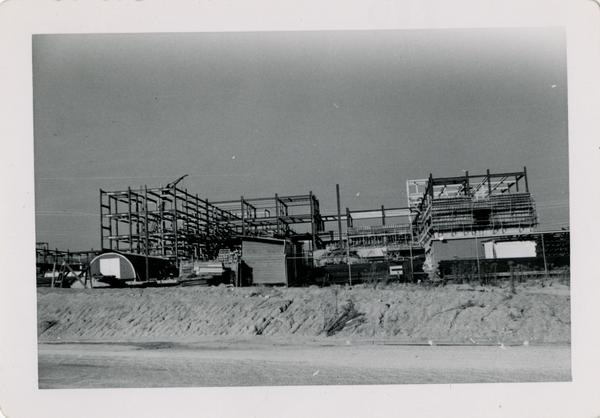 Looking north at UCLA Medical Center during construction, November 8, 1952