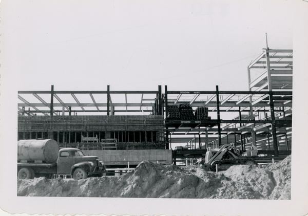 Looking west at UCLA Medical Center during construction, November 8, 1952