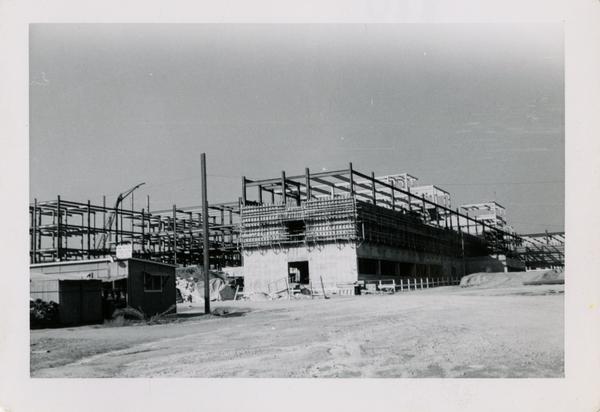 Looking northwest at UCLA Medical Center during construction, November 8, 1952