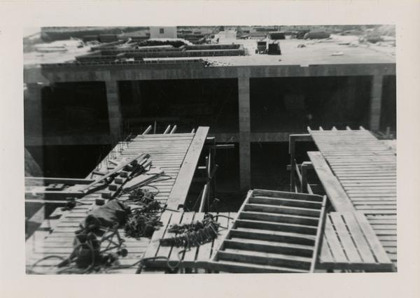 Looking west at UCLA Medical Center during construction, May 10, 1952