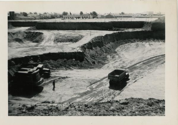 Looking south at UCLA Medical Center during construction, September 28, 1951