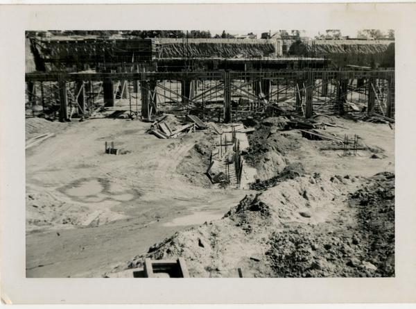 Looking east at UCLA Medical Center during construction, March 2, 1952
