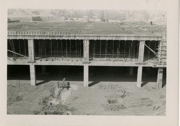Looking west at UCLA Medical Center during construction, March 29, 1952