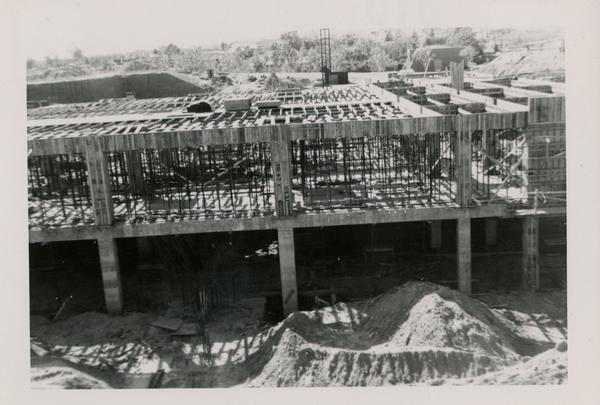 Looking west at UCLA Medical Center during construction, March 22, 1952