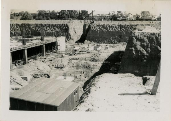 East side of UCLA Medical Center during construction, March 2, 1952