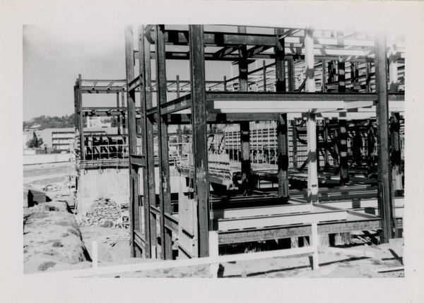 UCLA Medical Center during construction, February 7, 1953