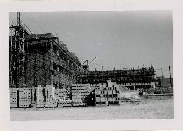 UCLA Medical Center during construction, March 22, 1953