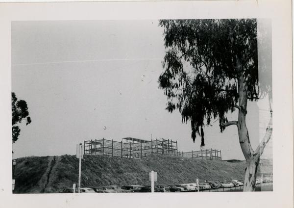 UCLA Medical Center during construction, April 4, 1953