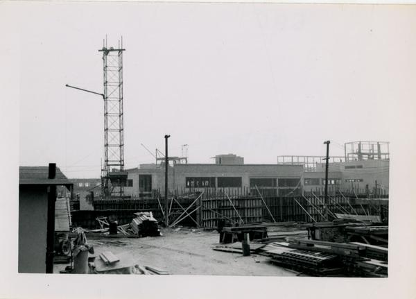 UCLA Medical Center during construction, April 4, 1953