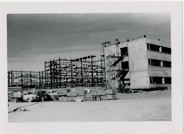 UCLA Medical Center during construction, January 4, 1953