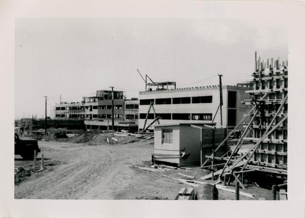 UCLA Medical Center during construction, March 1, 1953