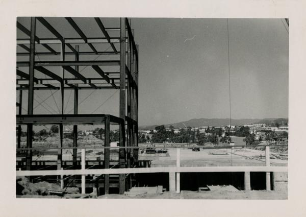 Looking west at UCLA Medical Center during construction, June 14, 1952