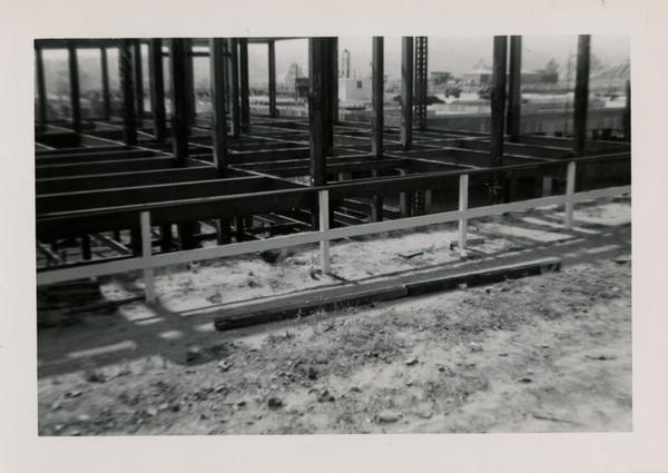 Looking northwest at UCLA Medical Center during construction, May 24, 1952