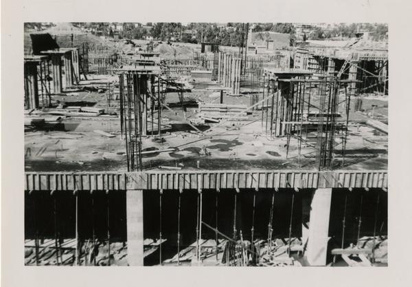 Looking west at UCLA Medical Center during construction, March 9, 1952