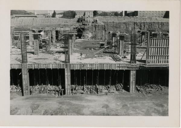 Looking north at UCLA Medical Center during construction, March 9, 1952