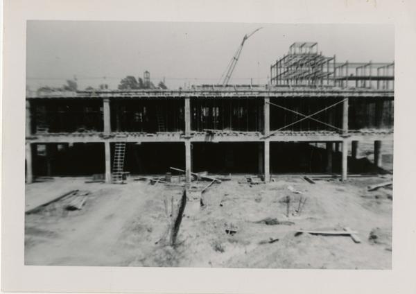 Looking east at UCLA Medical Center during construction, May 24, 1952