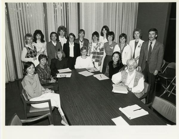 Medi-scene board group photo, 1987