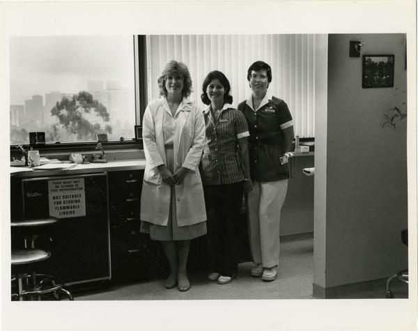 Three Medical School students