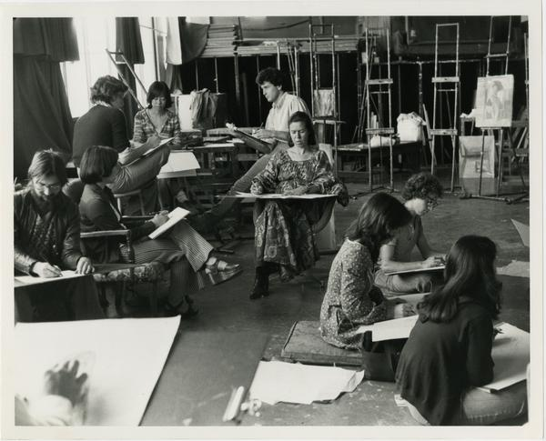 Art class scene circa 1970s