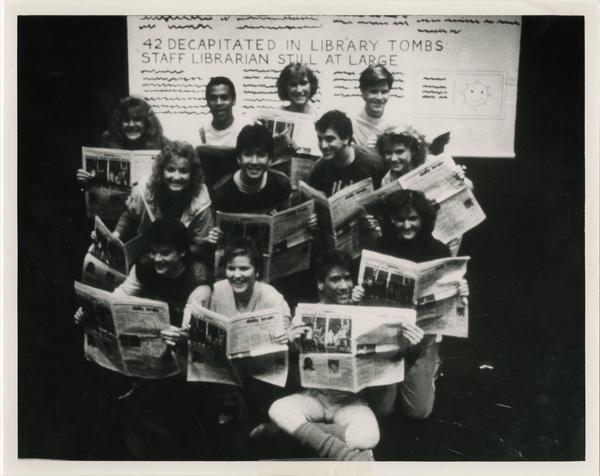 Students posed for a photograph for a brochure