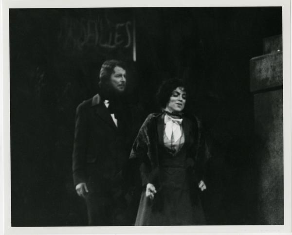 Two performers during the La Boheme Dress rehearsal, 1978