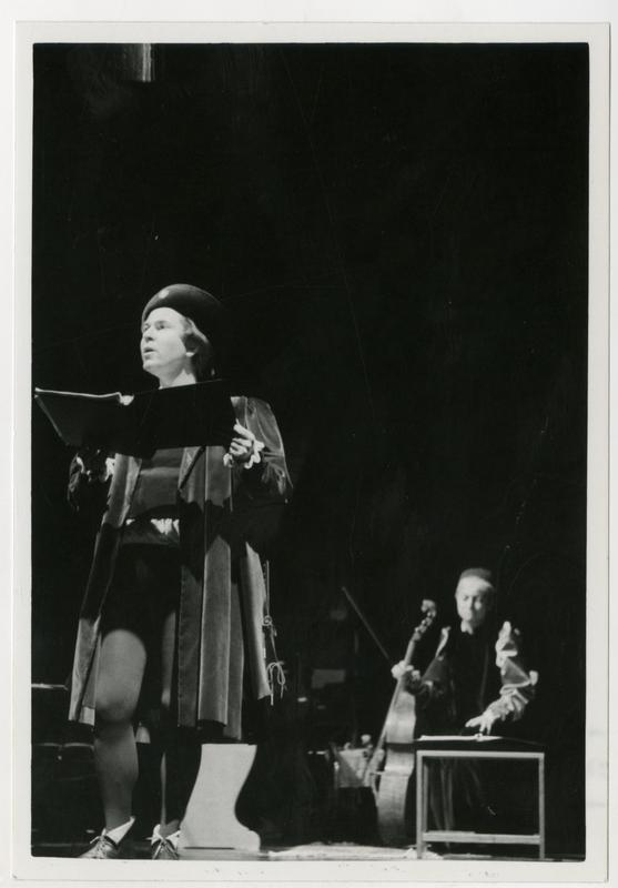 Actor sings during a scene from Omaggio a Giorgione, June 8, 1978