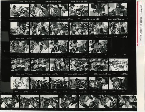 Various shots of students rehearsingi n class, 1984