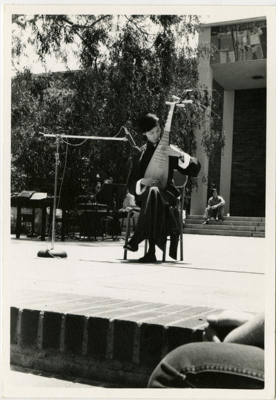 Lui Tsun Yuen performing Chinese music on a PI'PA at the Ethno Spring Festival, c. 1970's