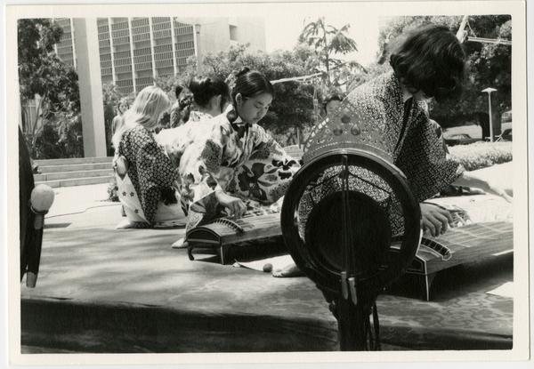 Japanese Chamber Music being performed during the Ethno Spring Festival, c. 1970's