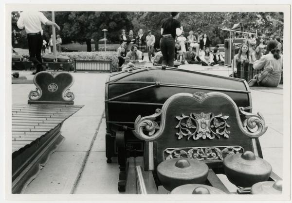View from the stage during the Javanese Gamelan performance at the Ethno Spring Festival, c. 1970's