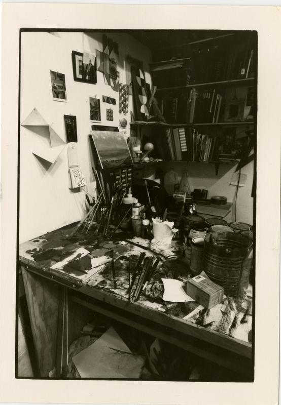 Work station of an art student