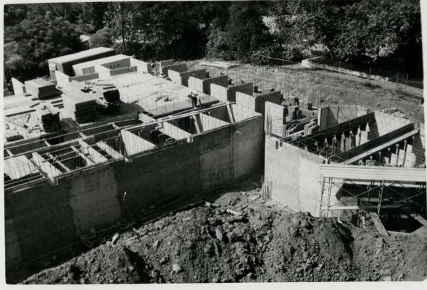 Below ground construction of Schoenberg Hall