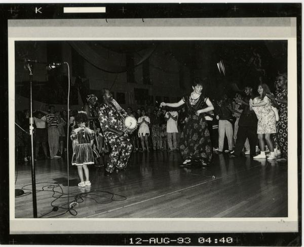 Contact print of World Arts and Cultures event