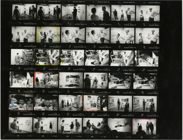 Contact sheet of Grad Art Review with Ray Brown