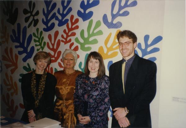 Enrica Barocchi, Elizabeth Shepherd with student who received award, February 1993