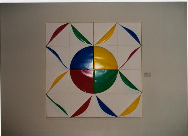Artwork hanging in galllery for FIAR International Prize event, February 1993
