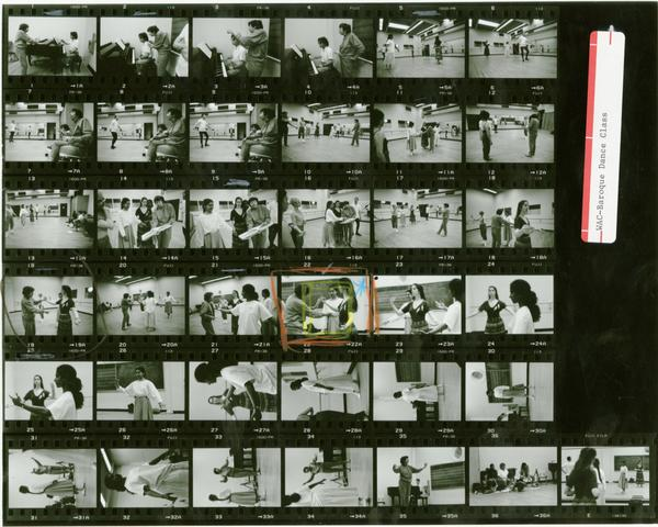 Contact sheet of World and Cultures Baroque Dance Class