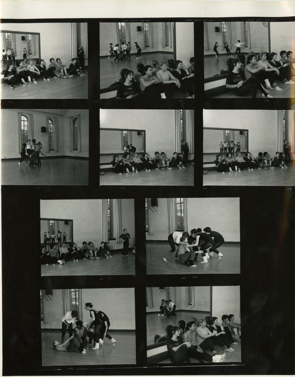 Contact sheet of World and Cultures dance classroom scenes