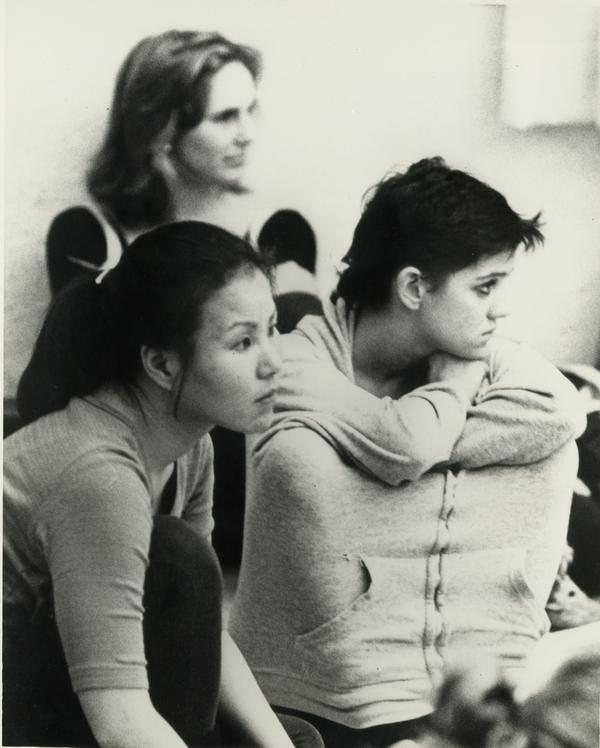 Dance student in workshop, 1982